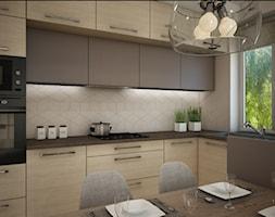 Mieszkanie Bacieczki - Średnia otwarta biała kuchnia w kształcie litery l, styl nowoczesny - zdjęcie od Anna Wrona