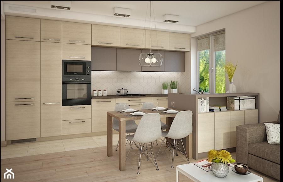 Mieszkanie Bacieczki  Duża otwarta kuchnia w kształcie  -> Kuchnia I Kafelki