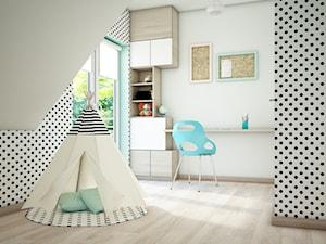 Pokoje dziecięce, Karakule - Mały biały szary czarny pokój dziecka dla chłopca dla dziewczynki dla malucha, styl nowoczesny - zdjęcie od Anna Wrona