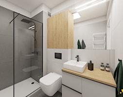 Łazienka z wanną i prysznicem - zdjęcie od Studio Projektowe Atoato - Homebook