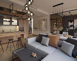 Salon z jadalnią - zdjęcie od Studio Projektowe Atoato - Homebook