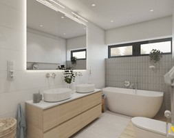 Jasna łazienka z wanną - zdjęcie od Studio Projektowe Atoato - Homebook