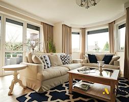salon w stylu nowojorskim - zdjęcie od Studio Projektowe Atoato
