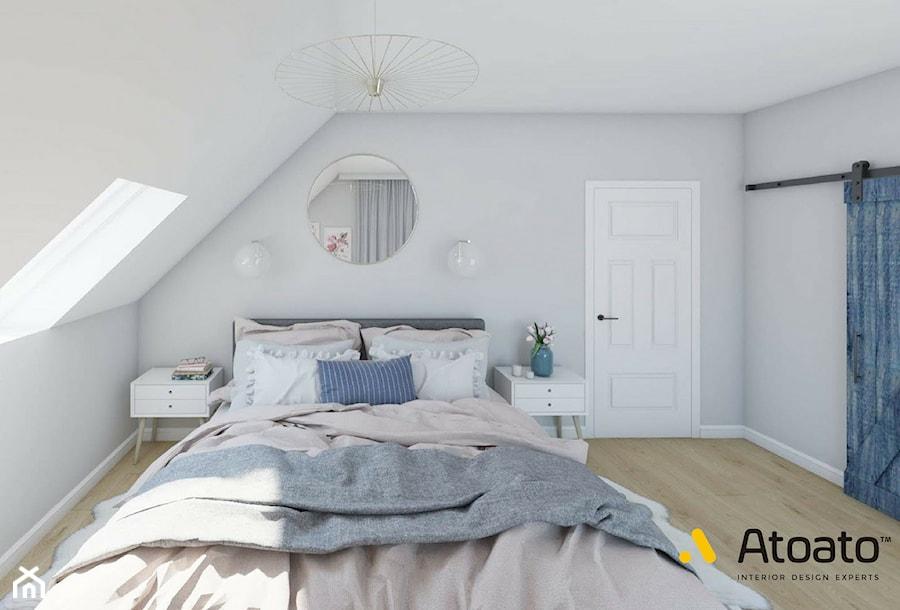 Aranżacje wnętrz - Sypialnia: Przesuwane drzwi w sypialni - Studio Projektowe Atoato. Przeglądaj, dodawaj i zapisuj najlepsze zdjęcia, pomysły i inspiracje designerskie. W bazie mamy już prawie milion fotografii!