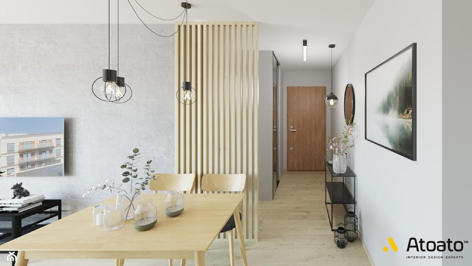 salon otwarty na korytarz - zdjęcie od Studio Projektowe Atoato - Homebook