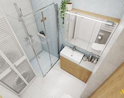 Jasna łazienka z prysznicem - zdjęcie od Studio Projektowe Atoato - Homebook