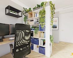 Biuro z ażurową regałem - zdjęcie od Studio Projektowe Atoato - Homebook