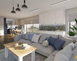 Salon z dużym akwarium - zdjęcie od Studio Projektowe Atoato - Homebook