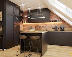 Kuchnia z czarnymi frontami - zdjęcie od Studio Projektowe Atoato - Homebook