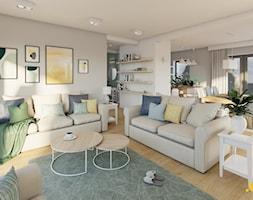 Jasny salon z dwiema sofami - zdjęcie od Studio Projektowe Atoato - Homebook