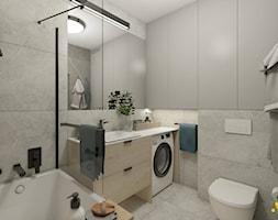 Szara łazienka z wanną - zdjęcie od Studio Projektowe Atoato - Homebook