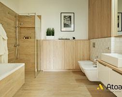 łazienka w stylu skandynawskim - zdjęcie od Studio Projektowe Atoato