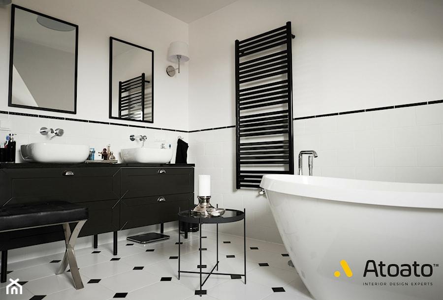 łazienka z wanną woplnostojącą - zdjęcie od Studio Projektowe Atoato