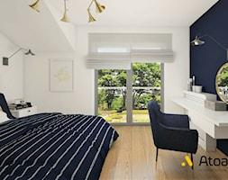 sypialnia w granacie - zdjęcie od Studio Projektowe Atoato