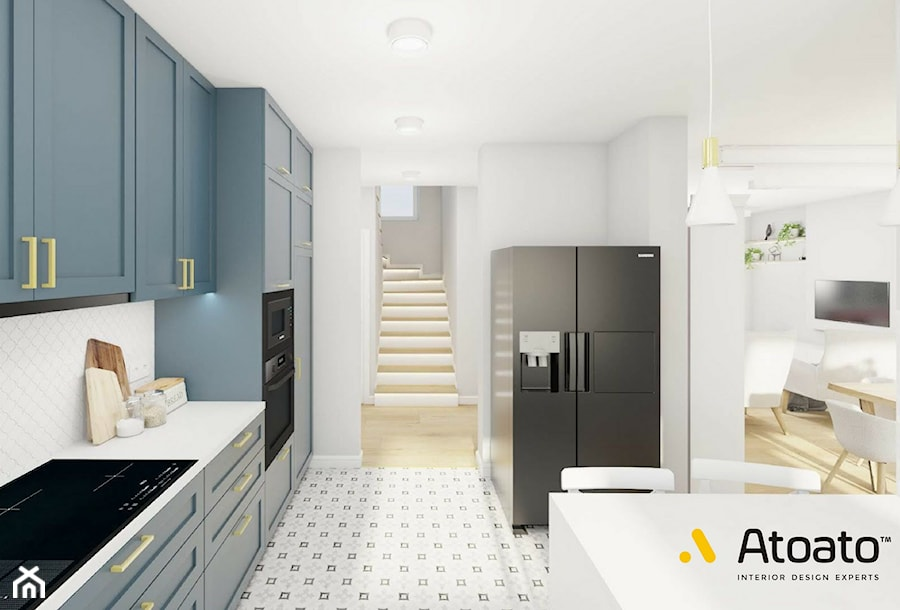 Niebieska Kuchnia Zdjecie Od Studio Projektowe Atoato Homebook