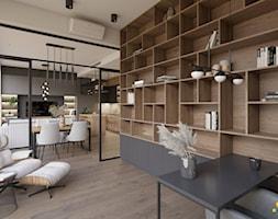 Biblioteka z przeszklonymi drzwiami - zdjęcie od Studio Projektowe Atoato - Homebook