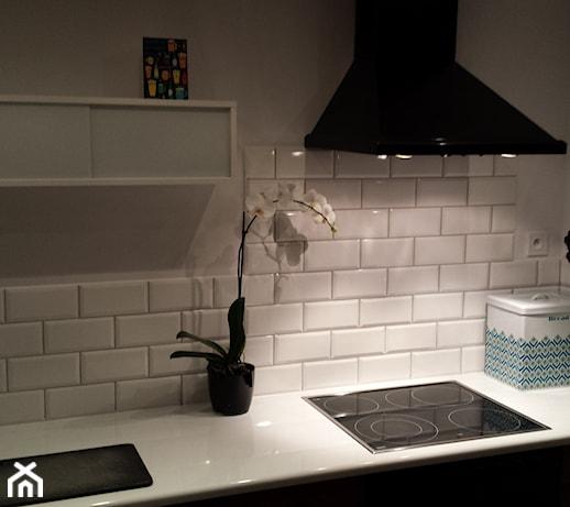 ebcc6b5bfb Lekki Home Staging kuchni - Mała zamknięta szara kuchnia jednorzędowa -  zdjęcie od Projekt Śliwa