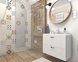 Łazienka przy sypialni głównej w stylu rustykalnym - zdjęcie od Justyna Lewicka Design - Homebook