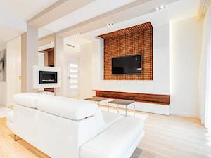 Angel Wawel - Średni biały salon, styl nowoczesny - zdjęcie od Justyna Lewicka Design