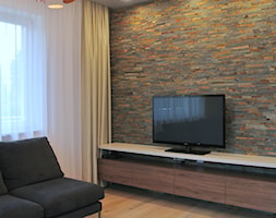 Piętro domu pod Krakowem - Średni szary salon, styl nowoczesny - zdjęcie od Justyna Lewicka Design