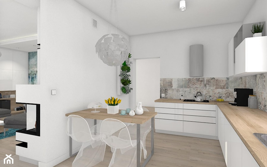 Włocławek- wnętrza w parterowym domu - Kuchnia, styl nowoczesny - zdjęcie od Justyna Lewicka Design