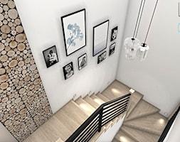 Klatka schodowa w stylu rustykalnym - zdjęcie od Justyna Lewicka Design - Homebook