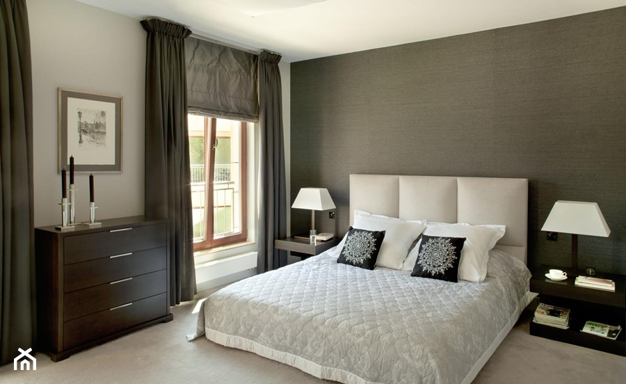Aranżacje wnętrz - Sypialnia: Apartament modernistyczny - Średnia biała szara sypialnia małżeńska, styl klasyczny - CKTprojekt. Przeglądaj, dodawaj i zapisuj najlepsze zdjęcia, pomysły i inspiracje designerskie. W bazie mamy już prawie milion fotografii!