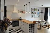 kuchnia w stylu skandynawskim z podwieszanym sufitem