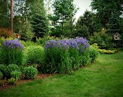 Ogród przy leśniczówce, Mielec - Duży ogród za domem tropikalny - zdjęcie od Ogrody Mielec