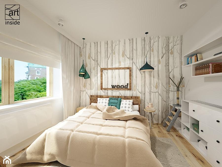 Sypialnia Z Tapetą Woods Amp Pears Zdjęcie Od Art Inside