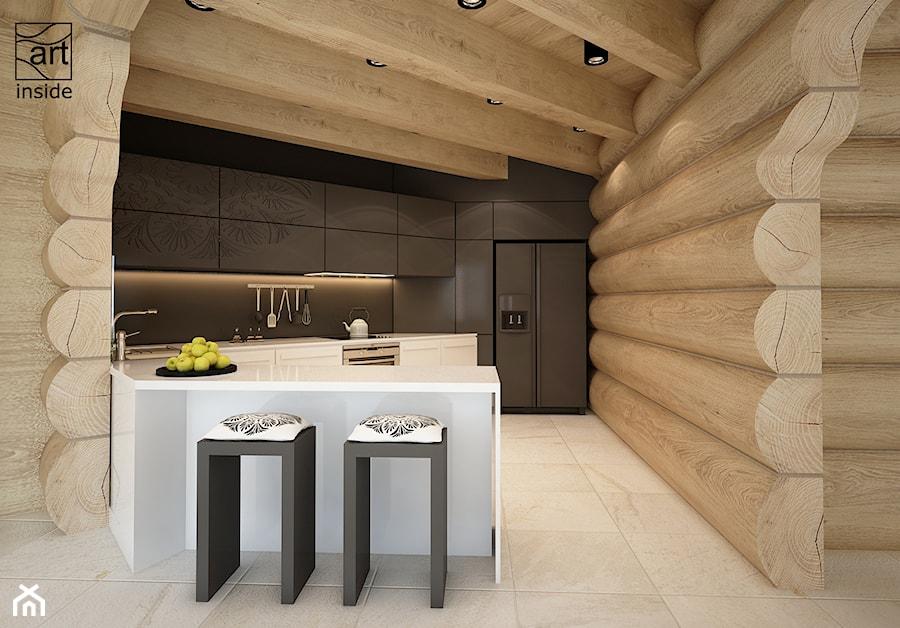 kuchnia w domu z bali zdjęcie od artinside homebook