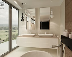 łazienka w nowoczesnym apartamencie z nutką stylu glamour - zdjęcie od artinside