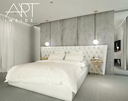 sypialnia z tapetą w kwiaty WONDERWALL - zdjęcie od ...