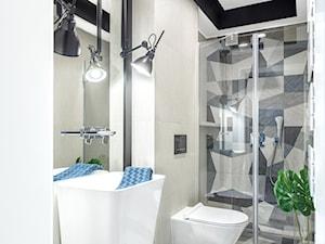 Dom jednorodzinny - Średnia łazienka w bloku w domu jednorodzinnym bez okna, styl nowoczesny - zdjęcie od Maciejewska Design