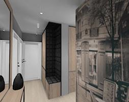 Mały beżowy szary hol / przedpokój, styl nowoczesny - zdjęcie od Maciejewska Design