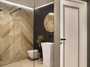 Mieszkanie10 - Średnia szara łazienka w bloku w domu jednorodzinnym bez okna - zdjęcie od Maciejewska Design