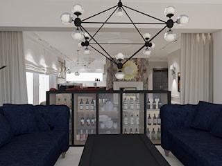 Salon kuchnia i oranżeria w wersji klasycznej