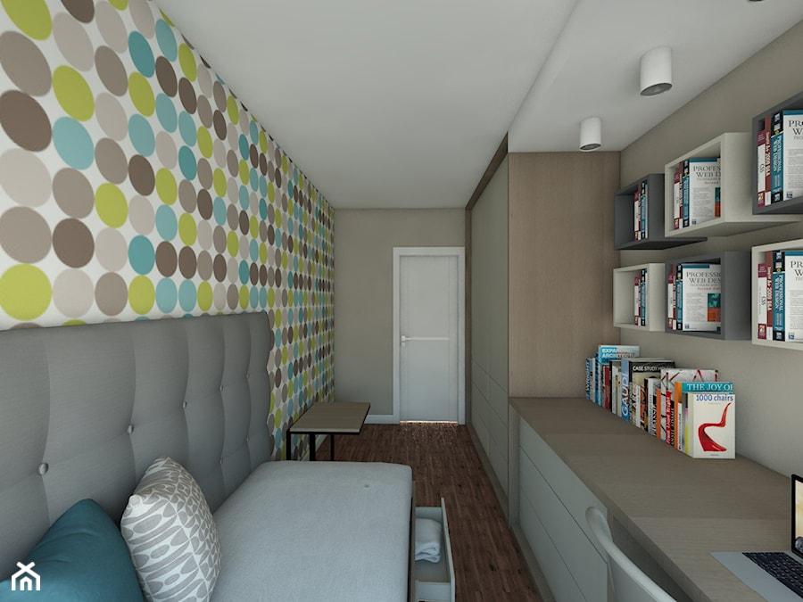 pokój córki - Średni brązowy kolorowy pokój dziecka dla chłopca dla dziewczynki dla ucznia dla nastolatka, styl nowoczesny - zdjęcie od Maciejewska Design