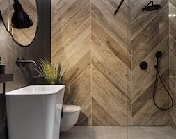 Mieszkanie10 - Średnia łazienka w bloku w domu jednorodzinnym bez okna - zdjęcie od Maciejewska Design