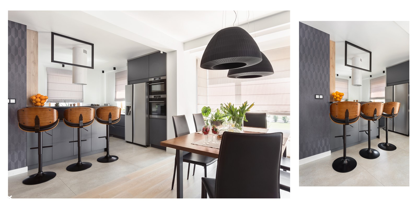 jadalnia z widokiem na kuchnię - zdjęcie od Maciejewska Design - Homebook