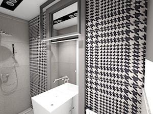 dom jednorodzinny (projekt Opałek) - Mała łazienka w bloku w domu jednorodzinnym bez okna - zdjęcie od Maciejewska Design