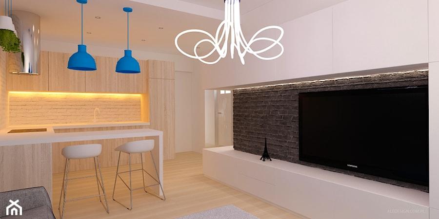 Pokój z aneksem kuchennym w gradiencie  zdjęcie od Ale   -> Kuchnia Z Aneksem Inspiracje
