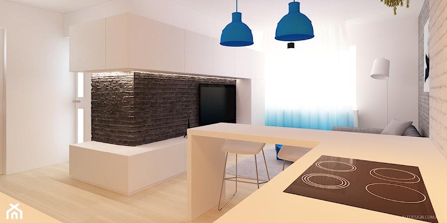 Pokój z aneksem kuchennym w gradiencie  zdjęcie od Ale