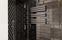 Druga łazienka = Wersja czarna - zdjęcie od Ale design Grzegorz Grzywacz