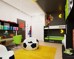 Pokój dzieci w wieku 8 i 5 lat - zdjęcie od Ale design Grzegorz Grzywacz