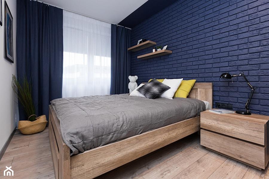 Mieszkanie Gorskie Mała Biała Niebieska Sypialnia