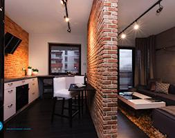 mieszkanie kawalera - Średnia biała kuchnia w kształcie litery l w aneksie, styl skandynawski - zdjęcie od Anna Krzak architektura wnętrz