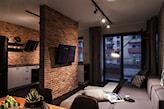 Ściana działowa podświetlana TV cegła