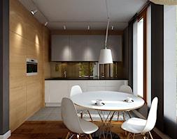 Ciepła, nowoczesna kuchnia - zdjęcie od Studio Aranżacja - Homebook