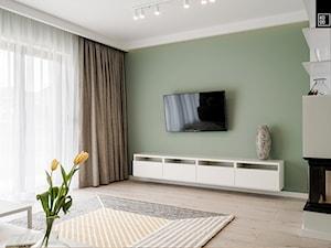 OSIEDLE PRZY ZAMKU WROCŁAW - Mały zielony salon, styl nowoczesny - zdjęcie od KODO projekty i realizacje wnętrz